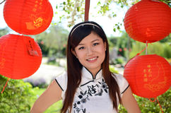 Pretty chinese woman portrait Royalty Free Stock Images