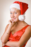 Pretty christmas girl. #2. Pretty smiling christmas girl in red. #2 stock image