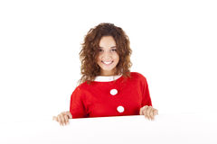 Pretty christmas girl royalty free stock photos