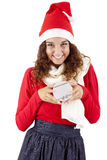 Pretty christmas girl Royalty Free Stock Image