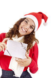 Pretty christmas girl Stock Photo