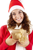 Pretty christmas girl Stock Images