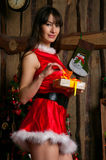 Pretty Christmas girl Royalty Free Stock Photos