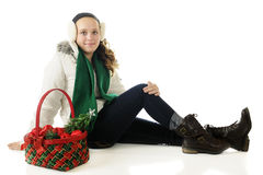Pretty Christmas Tween Royalty Free Stock Images