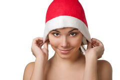 Pretty Christmas woman Royalty Free Stock Images