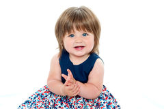 Pretty chubby little girl Stock Images