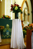 Pretty Church Flowers Stock Photo