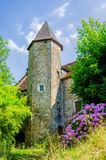 Pretty church in Salies de Bearn Stock Image
