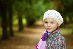 Pretty close-up portrait of beautiful young girl Royalty Free Stock Photos