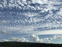 Pretty clouds. Multiple shapes of clouds Royalty Free Stock Photo