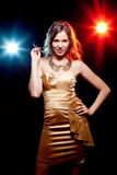 Pretty clubber smiling Royalty Free Stock Photo