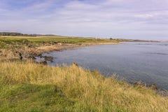 Pretty coastline in Fife Scotland Stock Images