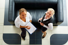 Pretty colleagues Stock Images