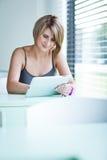 Pretty college student/businesswoman Stock Photos