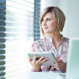 Pretty college student/businesswoman Stock Images