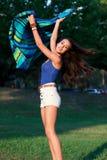 Pretty College Teenager Enjoying Campus Life Stock Photo