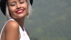Pretty Beautiful Happy Young Asian Woman. A pretty Colombian adult female stock photography