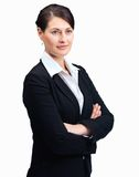 Pretty confident business woman looking away Royalty Free Stock Images