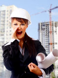 Pretty construction architect Royalty Free Stock Images