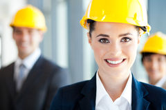 Pretty construction businesswoman Royalty Free Stock Image