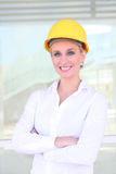 Pretty Construction Woman Stock Images