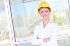 Pretty Construction Woman Royalty Free Stock Photos
