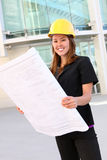 Pretty Construction Woman Stock Photography