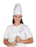 Pretty cook girl with a mixer Stock Image