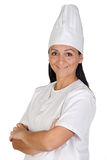 Pretty cook girl with uniform Royalty Free Stock Images