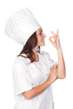 Pretty cook woman Royalty Free Stock Image