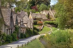 Pretty Cotswold cottages Stock Images