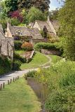 Pretty Cotswold cottages Stock Photography