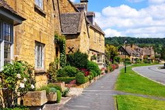 Pretty Cotswold cottages, Broadway. Stock Photography