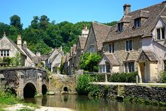 Pretty Cotswold village, Castle Combe. Royalty Free Stock Photo