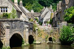 Pretty Cotswold village, Castle Combe. Stock Photography