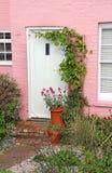 Pretty cottage garden and door Stock Image
