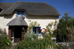 Pretty cottage. A pretty cottage near the beach at porlock wier in Somerset, UK Royalty Free Stock Photos