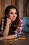 Pretty country girl. Royalty Free Stock Image