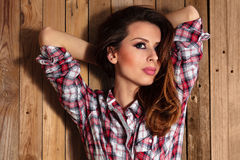 Pretty country girl. Royalty Free Stock Photos