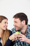 Pretty couple having a breakfast Stock Photography