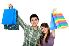 Pretty couple shopping Royalty Free Stock Image