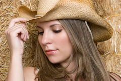 Pretty Cowgirl Royalty Free Stock Photography