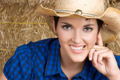 Pretty Cowgirl Royalty Free Stock Images