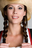 Pretty Cowgirl Royalty Free Stock Photos