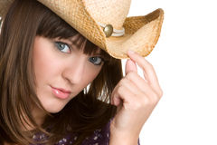 Pretty Cowgirl Stock Photography