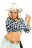 Pretty cowgirl Stock Images