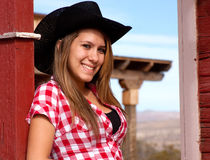 Pretty Cowgirl Model Stock Photography