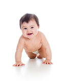 Pretty crawling baby girl Royalty Free Stock Photos