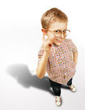 Pretty curios boy portrait Stock Photos