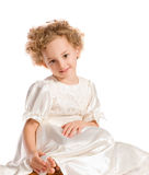 Pretty curly blond  little girl Royalty Free Stock Images